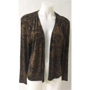 Black /Gold Sequin Jacket Size 10